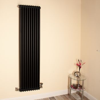 Old Style Tall Slim Matt Anthracite 3 Column Radiator 1800mm high x 474mm wide