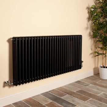Old Style Matt Anthracite 3 Column Radiator 600mm high x 1329mm wide