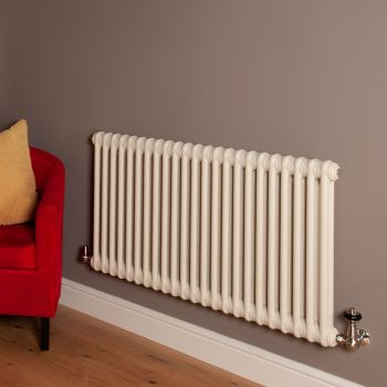 Old Style Matt Cream 2 Column Radiator 600mm high x 1059mm wide