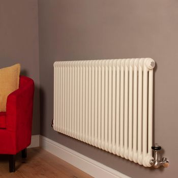Old Style Matt Cream 2 Column Radiator 600mm high x 1329mm wide