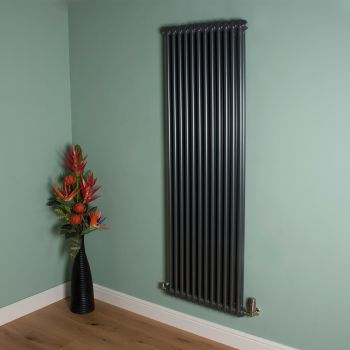 Old Style High Output Gunmetal Grey 2 Column Radiator 1800mm high x 564mm wide