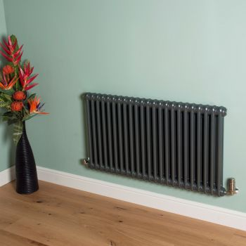 Old Style Gunmetal Grey 2 Column Radiator 600mm high x 1059mm wide
