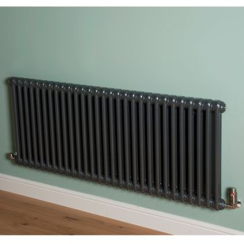 Old Style Gunmetal Grey 2 Column Radiator 600mm high x 1329mm wide
