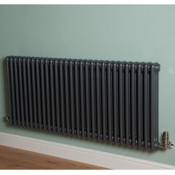 Old Style High Output Gunmetal Grey 3 Column Radiator 600mm high x 1329mm wide