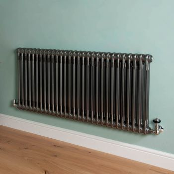 Old Style Raw Lacquered 2 Column Radiator 600mm high x 1329mm wide