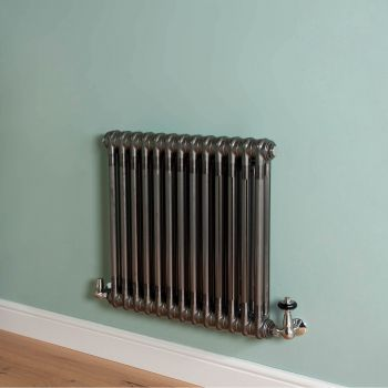 Old Style Raw Lacquered 2 Column Radiator 600mm high x 609mm wide