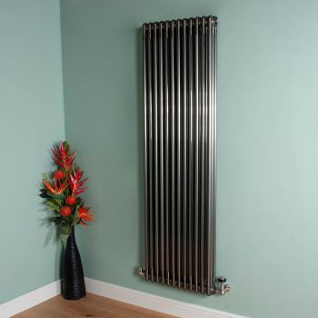 Old Style 10000 BTU Raw Lacquered 3 Column Radiator 1800mm high x 564mm wide