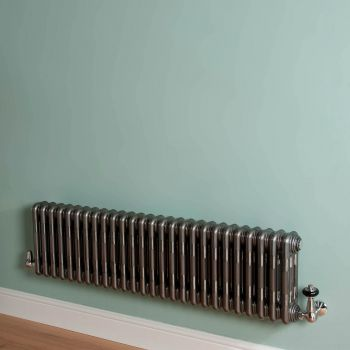 Old Style Low Level Raw Lacquered 3 Column Radiator 300mm high x 1194mm wide