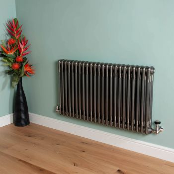 Old Style Raw Lacquered 3 Column Radiator 600mm high x 1059mm wide