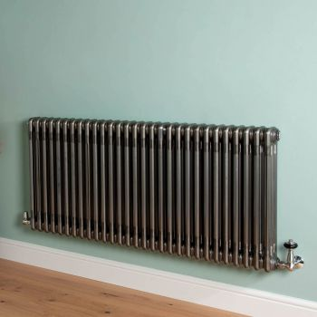 Old Style High Output Raw Lacquered 3 Column Radiator 600mm high x 1329mm wide