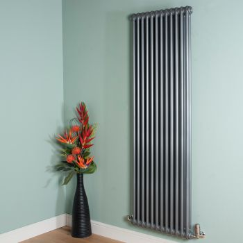 Old Style High Output Mid Grey 2 Column Radiator 1800mm high x 564mm wide
