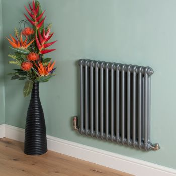 Old Style Mid Grey 2 Column Radiator 600mm high x 609mm wide