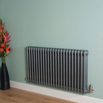 Old Style Mid Grey 3 Column Radiator 600mm high x 1059mm wide