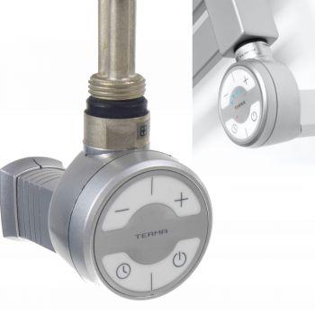 Terma MOA Silver Grey Thermostatic Element for Radiator or Towel rail - 1000 watt