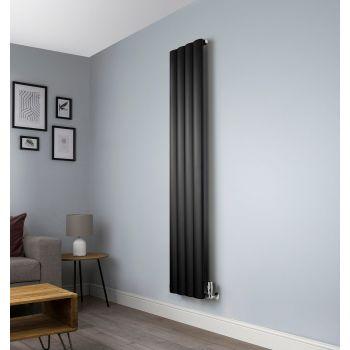 Aero Black Vertical Designer Radiator - 1800mm x 375mm