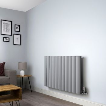 Aero Grey Vertical Designer Radiator - 600mm x 1040mm