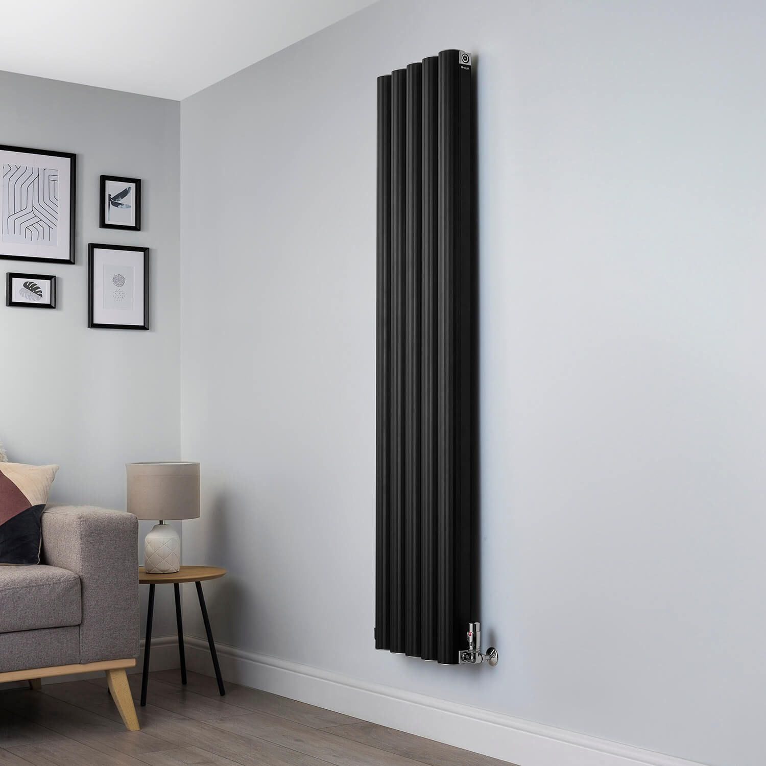 Venn Black Designer Radiator 1750x400 Www Geyser Co Uk