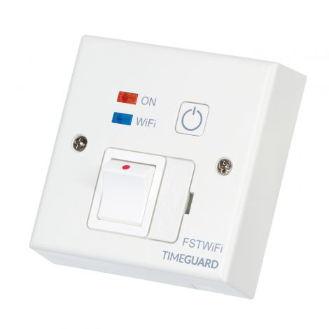 7 day smartphone timer and fused spur for electric radiators or towel rails