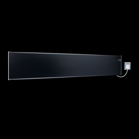 Adax Neo Black Low Level Electric Radiator - 200mm high x 1050mm wide