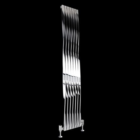 Aeon Twister Brushed and Polished Steel Radiator 1800mm high x 310mm wide