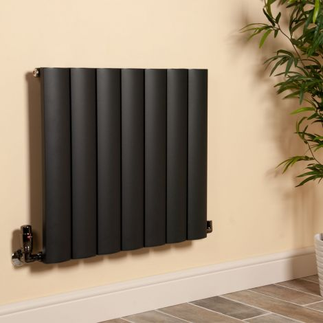 Aero Anthracite Horizontal Radiator