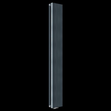 EX-DISPLAY Anthracite Triangolo Double Designer Radiator 1800mm high x 300mm wide