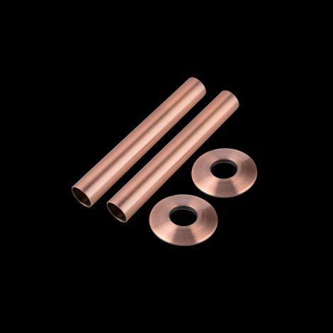 Antique copper pipe and collar set 130mm