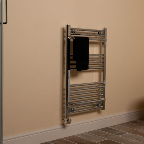 Chrome Area Plus Thermostatic Towel Rail 800mm high x 500mm wide