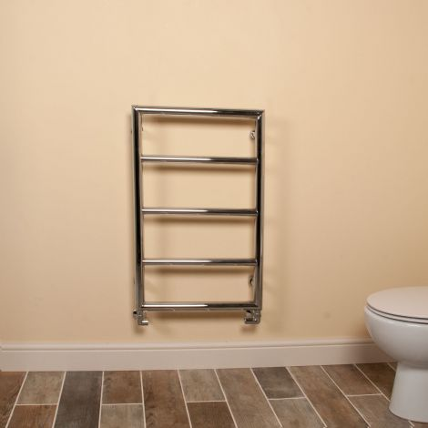 Aura Frame Style Designer Heated Towel Rail - 800mm high x 500mm wide