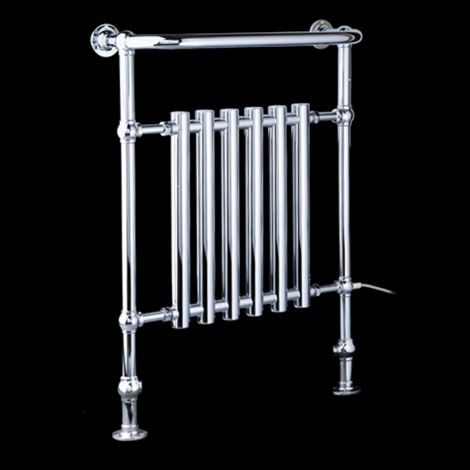 EX-DISPLAY Bala Chrome Urban Retro Electric Towel Radiator (Projected Towel Bar) - 963mm high x 673mm wide