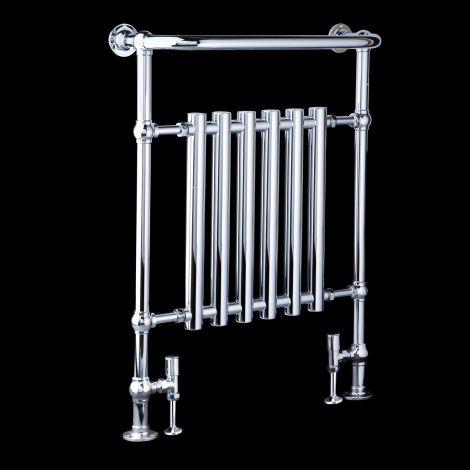 EX-DISPLAY Bala Chrome Urban Retro Towel Radiator (Projected Towel Bar) - 963mm high x 673mm wide
