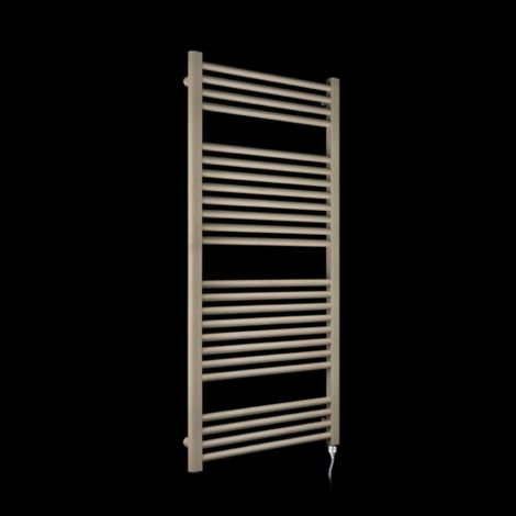 Bisque Deline Beige Quartz Electric Towel Rail - 1226mm high x 600mm wide