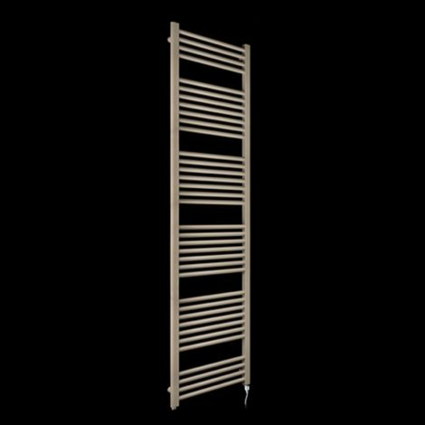Bisque Deline Beige Quartz Tall Electric Towel Rail - 1866mm high x 500mm wide