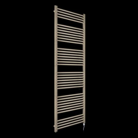 Bisque Deline Beige Quartz Tall & Large Electric Towel Rail - 1866mm high x 600mm wide