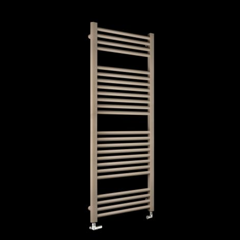 Bisque Deline Beige Quartz Heated Towel Rail - 1226mm high x 500mm wide