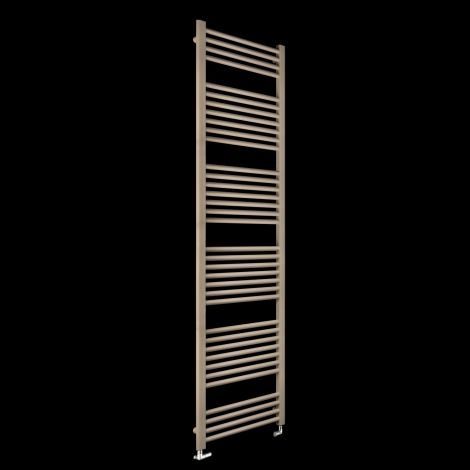 Bisque Deline Beige Quartz Tall Heated Towel Rail - 1866mm high x 500mm wide