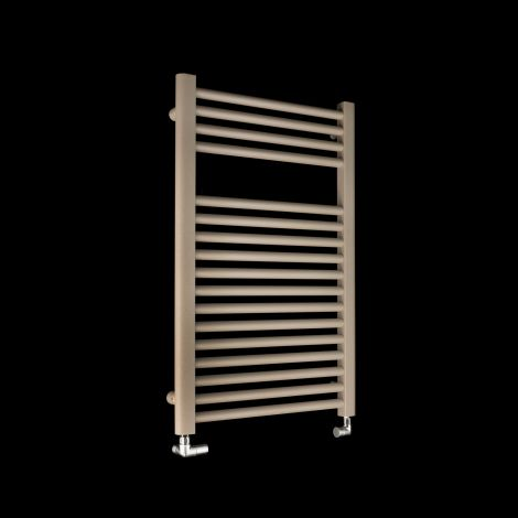 Bisque Deline Beige Quartz Short Heated Towel Rail - 766mm high x 500mm wide