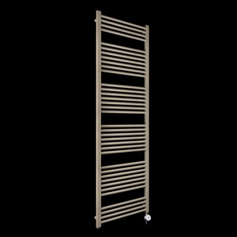 Bisque Deline Beige Quartz Tall & Large Thermostatic Electric Towel Rail - 1866mm high x 600mm wide