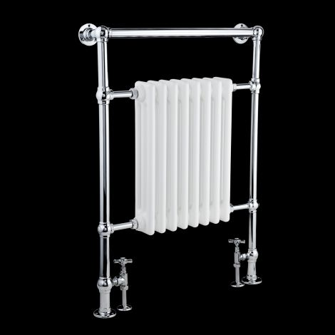 EX-DISPLAY Canterbury Chrome Traditional Victorian Towel Radiator (Slimline Towel Bar) - 963mm high x 673mm wide
