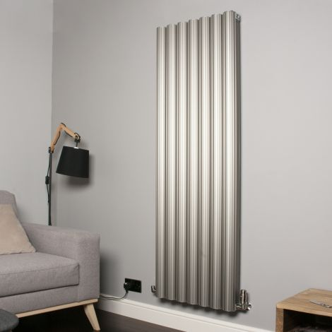 Venn Champagne Gold Vertical Tall High Output Designer Radiator - 1750mm high x 560mm wide