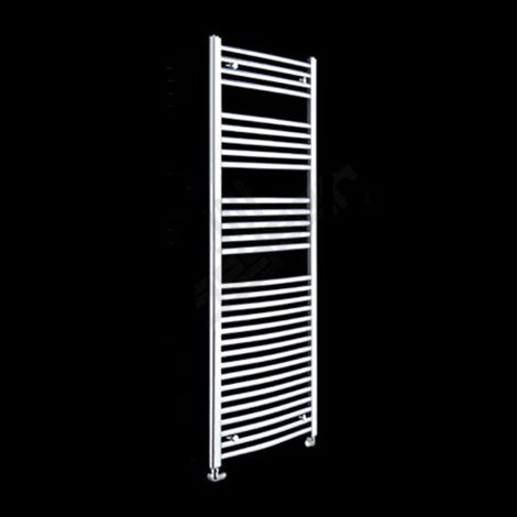 Chrome Curved Ladder Tall Heated Towel Rail 1800mm high x 400mm wide