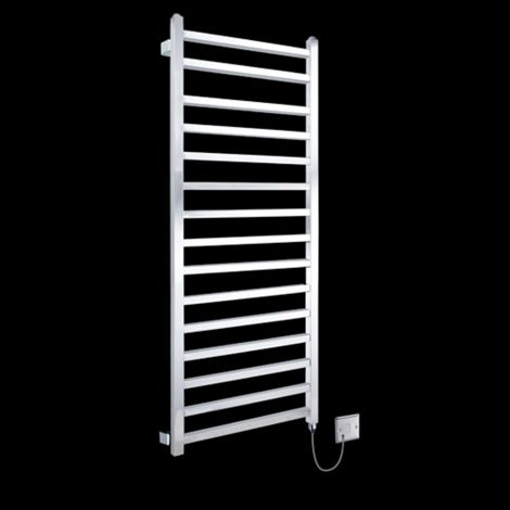 Chrome Squares Tall Ladder Electric Towel Rail 1600mm high x 500mm wide