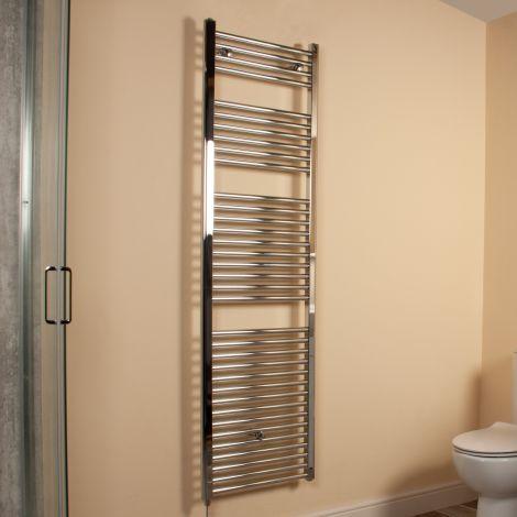Chrome Straight Ladder Tall Electric Towel Rail 1700mm high x 500mm wide