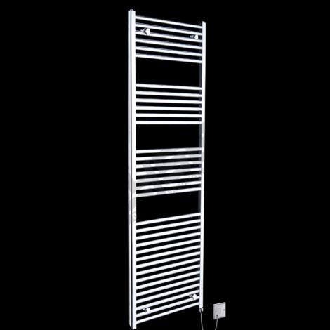 Chrome Straight Ladder Tall Electric Towel Rail 1700mm high x 600mm wide
