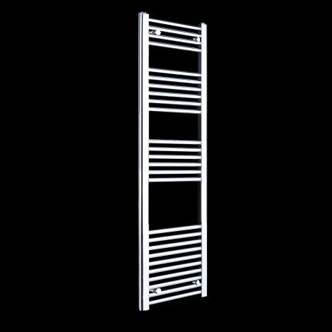 Chrome Straight Ladder Tall Slim Heated Towel Rail 1600mm high x 400mm wide