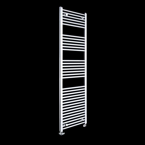 Chrome Straight Ladder Tall Heated Towel Rail 1720mm high x 450mm wide