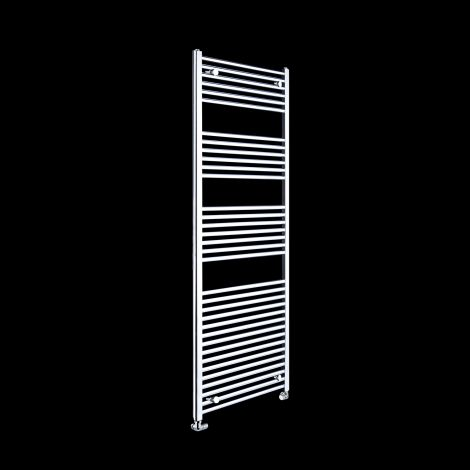 Chrome Straight Ladder Tall Heated Towel Rail 1700mm high x 600mm wide