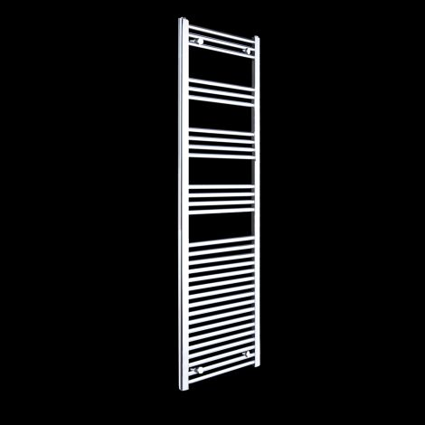 Chrome Straight Ladder Slim Heated Towel Rail 1800mm high x 400mm wide