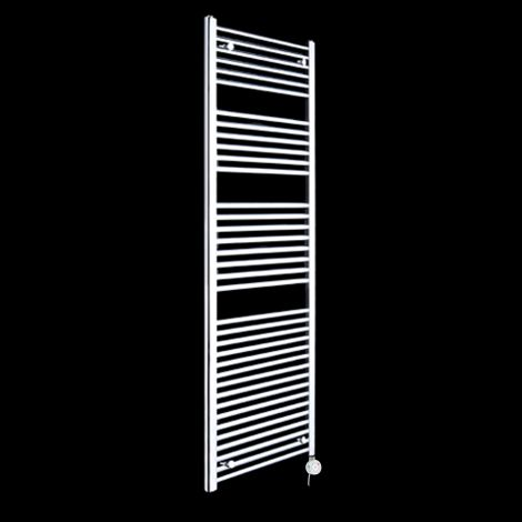 Chrome Straight Ladder Tall Thermostatic Electric Towel Rail 1700mm high x 600mm wide
