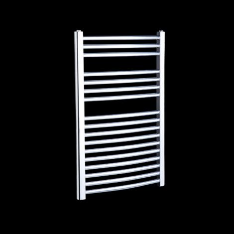 Chrome Straight Ladder Thermostatic Electric Towel Rail 800mm high x 500mm wide